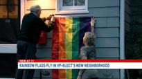 Rainbow flags popping up in Mike Pence's D.C. neighborhood