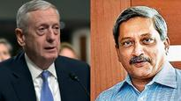 Pentagon chief James Mattis speaks with Parrikar, affirms commitment to defence cooperation