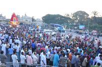 Thousands of devotees witness ISKCON Ratha Yatra