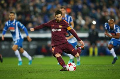 Football Briefs: Barca lose to Espanyol in Cup after Messi penalty miss