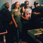 Something Big Coming!! Wande Coal & Kerry Hilson Pictured In The Studio