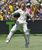 Warner grabs lucky 21st Test ton, Australia march ahead