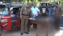 Three arrested for hunting animals in Pallekele