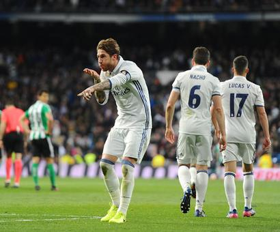 La Liga: Ramos heads Real Madrid to top after Barca's shock loss