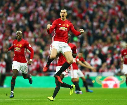PHOTOS: Ibrahimovic strikes twice as Manchester United win League Cup