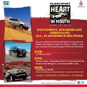 Mitsubishi Pajero Sport SUV owners head to Bangalore Heart-in-Mouth adventure on 24th March