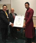 Sandip Soparrkar honoured by World Book of Records