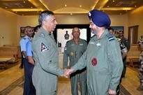 Indian Air Force and Royal Air Force of Oman Chiefs review Exercise Eastern Bridge-IV at Jamnagar
