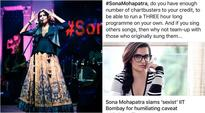 Sona Mohapatra gives a befitting reply to troll who said she doesn't have chartbusters to her credit