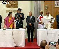 BJP's Biren Singh takes oath as Manipur Chief Minister