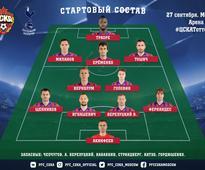 Starting line-ups: CSKA Moscow v Spurs
