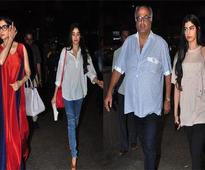 Spotted: Sridevi amps up the style quotient with daughters Jhanvi and Khushi