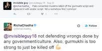 Richa Chadda got trolled for defending Fawad Khan and Pakistani Culture, gives befitting replies on Twitter