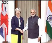 PM Modi meets British Prime Minister May