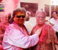 PIX: Bappi Lahiri celebrates Holi with family