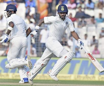 Stats: Dhawan-Rahul partnership steady India's ship