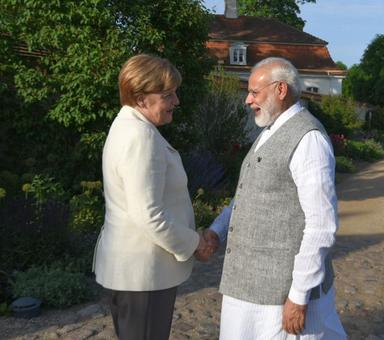 'Good interaction': PM Modi after meeting with Germany's Merkel
