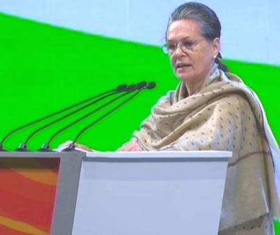 Sonia attacks Modi govt, says Congress will never cower down