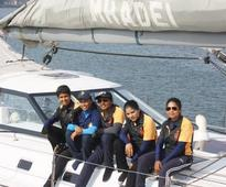 Indian Navy ship with all-women crew creates history, docks in Port Louis