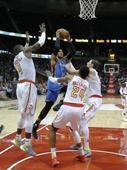 Westbrook's triple-double leads Thunder past Hawks, 102-99 (Yahoo Sports)