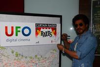 UFO Moviez's Curtain Raiser Platform Leveraged by Shah Rukh Khan To Launch Raees Trailer Live on Big Screen Amidst Fans