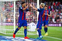 Lionel Messi produces assist to end all assists with sublime overhead kick to set up Luis Suarez
