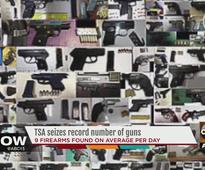 Record number of people tried to get guns on planes