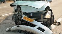 Five injured in car collision on Yamuna E-way