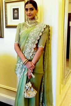 StyleDiaries: Sonam's sari made us go green with envy