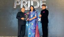 Mumbai: Grace Pinto awarded at 'The Pride of India' ceremony