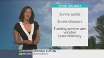 A warm bank holiday weekend, with thundery showers