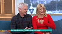 Holly Willoughby and Phillip Schofield break down in giggles during bizarre interview with a clown and Batman