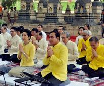 Thai PM visits Bodh Gaya; offers prayer at Mahabodhi Temple