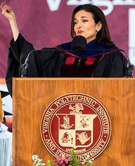 Hope. Resilience. Gratitude: Sheryl Sandberg's lessons for grads