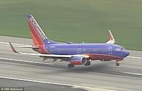Southwest Airlines lands with two flat tyres after fault discovered in the landing gear
