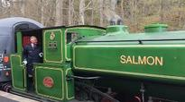 Prince Charles drives childhood steam train that his donation helped restore