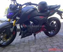 How about this matte black, modified TVS Apache RTR 200 4V from Indonesia?