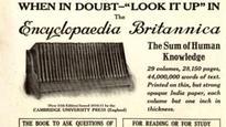 Into the history books: Encyclopaedias virtually worthless