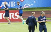 Iceland coach says two strikers give his side extra bite