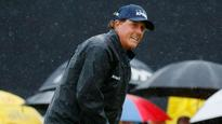 Phil Mickelson nearly aces 8th hole as he continues his charge at the British Open