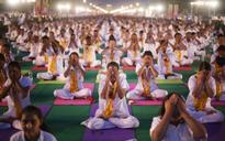 Ramdev leads reheasals for International Yoga Day
