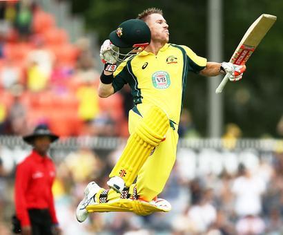 PIX: Warner nears Tendulkar, Sourav record as Aus down Kiwis to win series