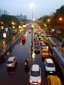 Monsoon pics: Traffic, waterlogging and more