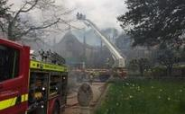Arson suspected after huge fire at Grade I listed stately home in Dorset leaves 'just the walls standing'