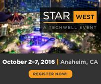 TechWell Announces the Full Program for STARWEST 2016 June 29, 2016The Premier Event for Software Testing and QA Professio​nals to Be Held in Anaheim, CA