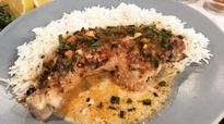 Fafa Gilbert's peanut and thyme chicken with coconut rice