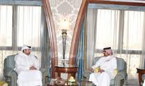Economy Minister meets SAGIA Deputy Governor Minister of Economy and Commerce H E Sheikh Ahmed bin Jassim Al Thani with D...