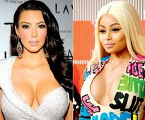 Kim Kardashian and Blac Chyna pout and make up
