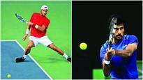 Rafael Nadal sits, Spain fly