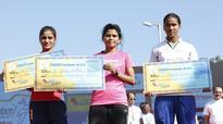 Srinu, Mounika Freedom 10k run champs; Navya too shines